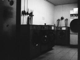 Public Laundry. Camera: Nikon FE. Film: Kodak Tri-X 400 @ 3200. Location: Tel Aviv, Israel.