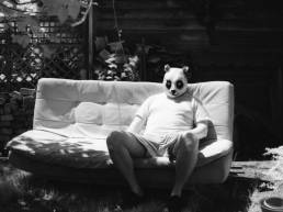 Domestic Panda: Infrared. Camera: Nikon FE. Film: Rollei Infrared IR400. Filter IR760.